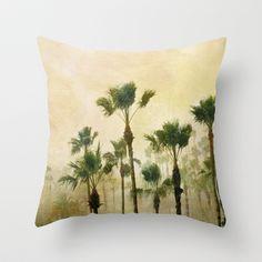 Tropical Rain Throw Pillow by Rebecca Cozart
