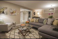 Cream & Grey Living Room | Photos | HGTV Canada | Income Property