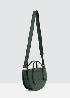 [ndearose앤딜로즈]U bag_Deep green Big Bags, Small Bags, Kintsugi, Popular Handbags, Leather Bags Handmade, Green Bag, Green Leather, Beautiful Bags, Leather Jewelry