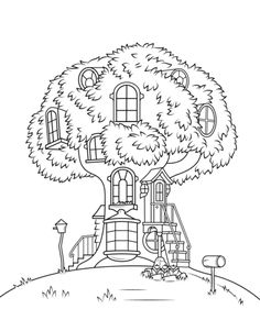 berenstain bears treehouse coloring page from berenstain bears category select from 25694 printable crafts of - Berenstain Bears Coloring Book