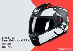 1d033fe3 #Helmet Steelbird Air Beast Matt Black With Red #Bikers Order now from www.
