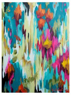 One Kings Lane - Color-Rich Contemporary Art - Gammill, Turquoise Abstract