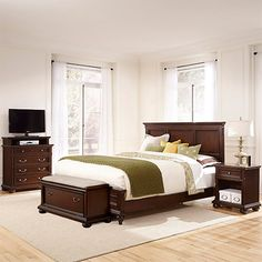 Belcourt Cherry 5 Pc King Platform Bedroom | Pinterest | Platform Bedroom,  Bedrooms And Queen Bedroom Sets