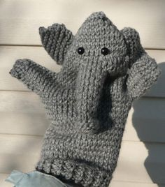 Free Knitting Pattern for Elephant Puppet - Designed originally by Operation Christmas Child International. Pictured project byneedleclicker