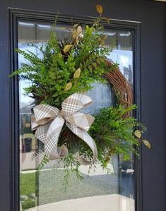 Everyday Greenery and Succulent Grapevine Wreath for Home, Wreath with No Florals, Housewarming Gift for Door, Minimalist Decor
