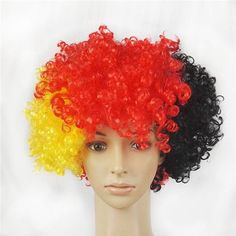 Hot selling whimsy Short Peruk synthetic wigs Fake Hair National Flag Halloween costumes Wig Fans Cosplay Wig free shipping - http://fashionfromchina.net/?product=hot-selling-whimsy-short-peruk-synthetic-wigs-fake-hair-national-flag-halloween-costumes-wig-fans-cosplay-wig-free-shipping