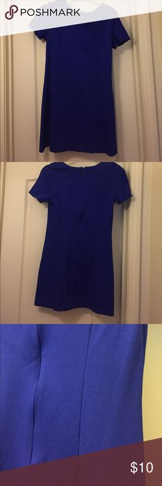 Cobalt Blue Shift Dress Cobalt blue shift dress. Very form fitting, zippered back, size medium Forever 21 Dresses Mini
