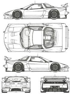 Trendy Ideas For Cars Drawing Honda Honda Nsx R, Soichiro Honda, Automobile, Acura Nsx, Car Illustration, Illustrations, Car Design Sketch, Japan Cars, Car Posters