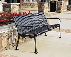 Model RB-28: The fabulous RB-28 bench is a worldwide favorite. Its simple but elegant design enhances all site schemes. The quality and durability of this bench assures that it will stay beautiful for many years to come. Steelsites™ RB benches feature elaborate finishing detail of polished welds across exposed joints. Meticulous care is taken to determine the most comfortable configuration of components for these benches while paying rigorous attention to their structural integrity.