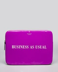 kate spade new york Laptop Case - Business As Usual, Handbags - All Handbags, Wallets & Small Accessories - Bloomingdale's Laptop Carrying Case, Things I Need To Buy, Stitch Fix Stylist, My Favorite Color, Favorite Things, Beauty Essentials, Tech Accessories, Zip Around Wallet, Kate Spade