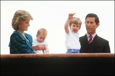 VENICE, ITALY - MAY 5:  (FILE PHOTO) (L-R) Diana the Princess of Wales holds her son Harry, whilst looking at Prince William held by his father Prince Charles on May 5, 1985 in Venice, Italy.  Prince William will celebrate his 21st birthday on June 21, 2003.  (Photo by Georges de Keerle/Getty Images)On July 1st  Diana, Princess Of Wales would have celebrated her 50th BirthdayPlease refer to the following profile on Getty Images Archival for further imagery…