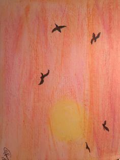 Pastel Practice #5 My Arts, Pastel, Cake, Crayon Art, Melting Crayons