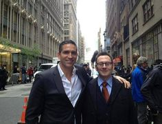 Jim Caviezel and Michael Emerson, friends in real life.