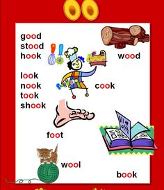 oo words - FREE Printable Phonics Poster - words with oo in them - Perfect for Word Walls, Auditory Discrimination and Spelling Lessons. English Phonics, English Grammar Worksheets, Grammar Lessons, English Vocabulary, Teaching English, Phonics Reading, Teaching Phonics, Teaching Kids, Teaching Reading