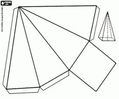 A square based pyramid coloring page