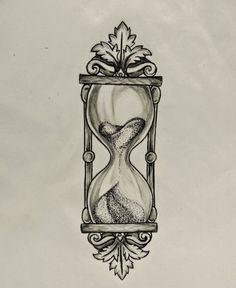 new traditional sand clock tattoo - Google 검색