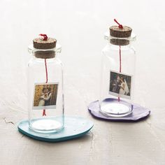 Personalised Mini Photo And Message Bottle - Wedding Ideen Bottle Art, Bottle Crafts, Unusual Wedding Favours, Gift Wedding, Wedding Ideas, Glass Bottles With Corks, Wedding Bottles, Personalized Photo Gifts, Personalised Gifts For Him