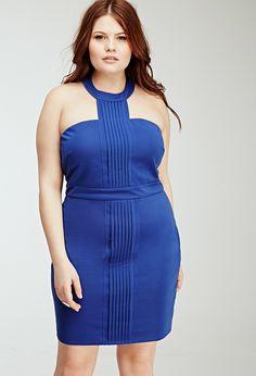 Plus Size Pleated Racerfront Sheath Dress | Forever 21 PLUS - 2049257920