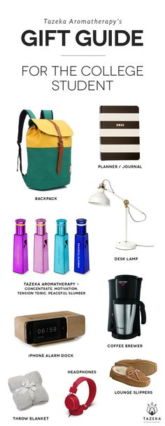 Tazeka's gift guide for the student in your life http://www.tazekaaromatherapy.com/