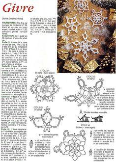 Crochet Snowflakes + Diagrams - Her Crochet Crochet Snowflake Pattern, Crochet Stars, Crochet Snowflakes, Thread Crochet, Crochet Diagram, Crochet Motif, Crochet Doilies, Crochet Flowers, Snowflakes