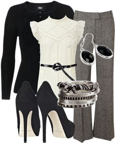 """For work"" by hsaas91 on Polyvore"
