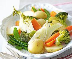 Gemüsebouquet mit Kartoffeln - Rezept - Saisonküche