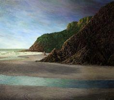 1968 Born Liverpool, UK Education: 1993 Otago University, BA Solo Justin Summerton is a NZ surrealist painter depicting a dreamlike world, who often presents New Zealand as a primeval landscape. New Zealand Art, Nz Art, South Island, Landscape Paintings, Landscapes, World, Water, Photography, Outdoor