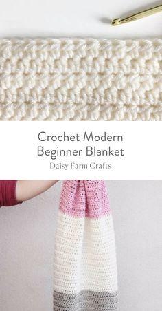 Free Pattern - Crochet Modern Beginner Blanket