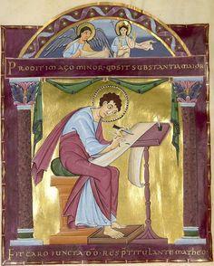 Heinrich : Evangeliar Reichenau, Anfang 11. Jh. Clm 4454  Folio 25v