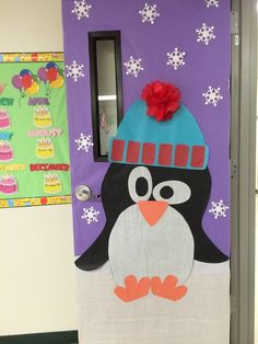 Winter Classroom Door decoration #winter #penguins #classroomdoor #classroom #classroomdoor - #classroom #classroomdoor #decoration #penguins #winter - #new
