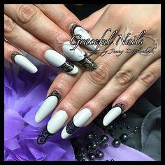 Fullcover Clear Design Nailart Gelmalerei schwarz Nails Nägel