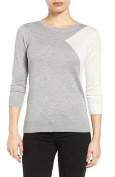 Halogen® Cotton Blend Pullover (Regular & Petite) available at #Nordstrom