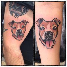 """106 Likes, 3 Comments - Inkiostrolibero (@inkiostrolibero) on Instagram: """"#tattoo#tattos#tattooravenna#ravennatattoo#inkiostroliberotattoostudio#inkiostrolibero#tattoolife#dogtattoo#amstaff#amstafftattoo#truelove#ink#newtraditionaltattoo#newschooltattoo#watercolor#watercolortattoo#"""""""