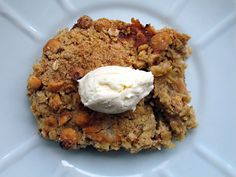 A Pot of Tea and a Biscuit: Ramsay's Roasted Rhubarb Crumble