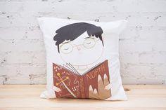 Geek Boy Pillow Cover - Throw Pillow Cover - Cushion Cover - Ecofriendly