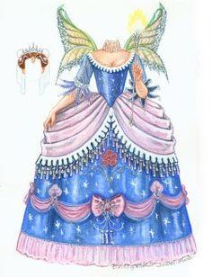 Borboleta Azul: Bonecas De Papel