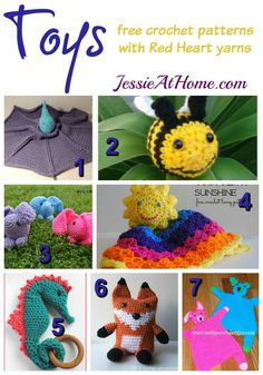 Toys free crochet pattern round up from Jessie At Home