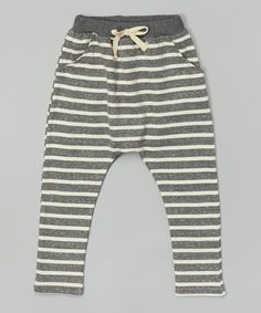Look at this Heather Gray Stripe Harem Pants - Infant, Toddler