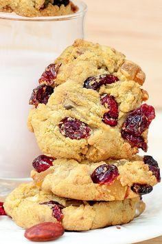 gluten free, almond flour, Cranberry, Almond, Cookies