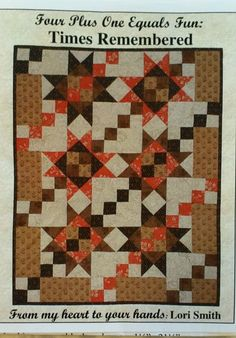 Mini quilt patterns to make using 5 fat quarters. Very cute doll quilts to make for Christmas. TIMES REMEMBERED, Lori Smith, 4 Plus 1 Equals Fun, Mini Quilt Patterns Quilt Square Patterns, Pattern Blocks, Square Quilt, Fat Quarters, Doll Quilt, Little Doll, Day Of My Life, Quilt Blocks, Scrap