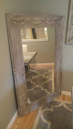 Reclaimed Wood Floor Mirror Rustic Full by CountryByTheBumpkins ...
