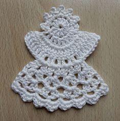 Crochet Angel Pattern, Crochet Keychain Pattern, Crochet Earrings Pattern, Crochet Brooch, Crochet Bikini Pattern, Crochet Angels, Crochet Patterns, Crochet Christmas Decorations, Crochet Christmas Trees