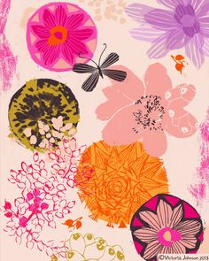 Featured in Uppercase Magazine #patternsplease floral, greeting card design, surface pattern, illustration victoriajohnsondesign.com