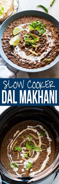 Easy, slow cooker dal makhani recipe, cooked in a crockpot and is just like restaurants & dhabas. This black dal is great with rice & rotis!