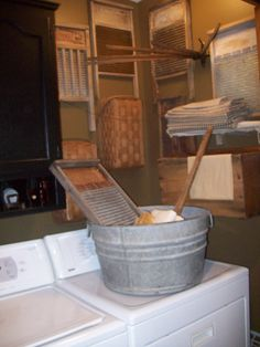 Primitive Country Farmhouse Laundry Closet.....: - Bathroom Designs - Decorating Ideas - HGTV Rate My Space
