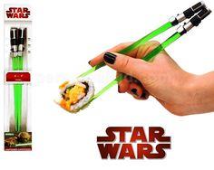 Lightsabers + Chopsticks = AWESOME