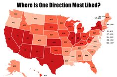 """Where are the """"Directioners"""" located? Here's a map showing where """"One Directions"""" are most popular:  https://www.facebook.com/Mapline/photos/a.466713526759139.1073741825.106763592754136/706660586097764/?type=1&theater"""