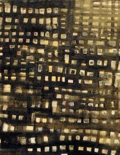 Ciudades. Óleo sobre lienzo.  (emeneira)