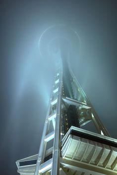 Space Needle Fogged in, Seattle, Washington