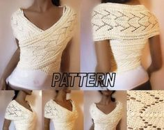 Knitting Pattern Knit Sweater cowl Vest por PillandPattern en Etsy